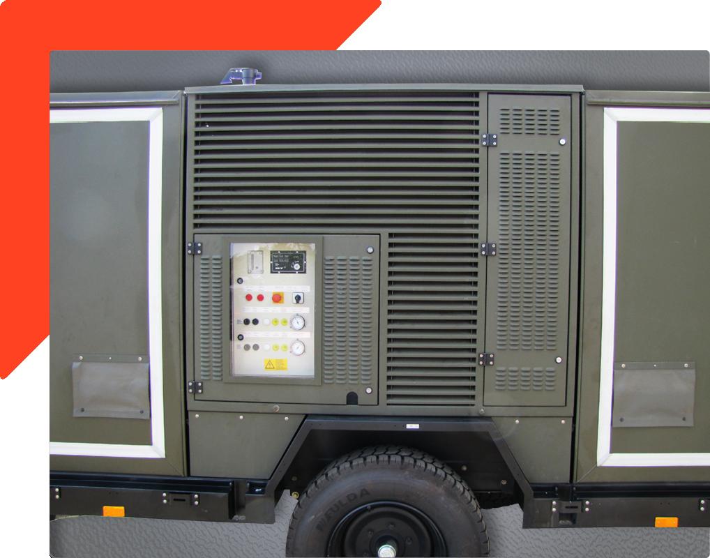Zwei Zonen Kühleinheit auf Bundeswehr Fahrzeug