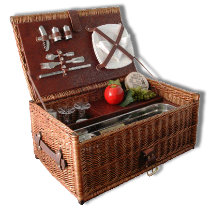 Roadluxe_Cottage_Style_Luxus_Picknickkorb_intergrierte_Kühlung_5,5_Liter